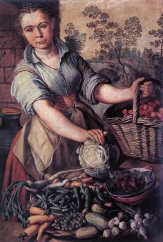 Joachim Beuckelaer : Vegetable Seller