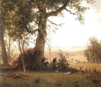 Albert Bierstadt : Guerrilla Warfare (Picket Duty in Virginia)