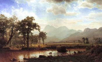 Albert Bierstadt : Haying, Conway Meadows