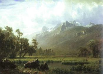Albert Bierstadt : The Sierras near Lake Tahoe, California