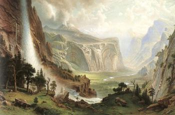 Albert Bierstadt : The Domes of the Yosemite