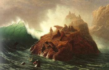 Albert Bierstadt : Seal Rock