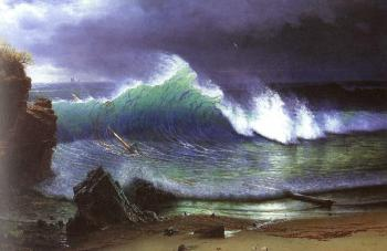 Albert Bierstadt : The Shore of the Turquoise Sea