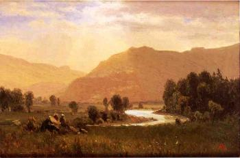 Figures in a Hudson River Landscape