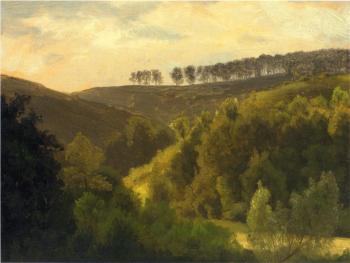 Albert Bierstadt : Sunrise over Forest and Grove