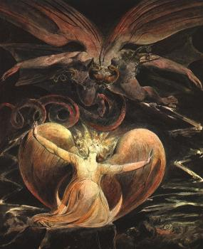 William Blake : The Great Red Dragon and the Woman Clothed with the Sun