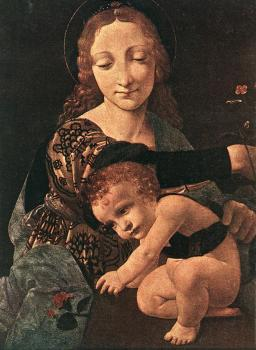 Giovanni Antonio Boltraffio : Virgin and Child with a Flower Vase