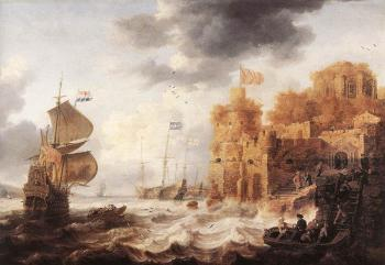 Bonaventura Peeters The Elder : An Oriental Harbour