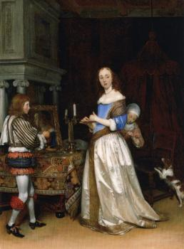 Gerard Ter Borch : A Lady at Her Toilet
