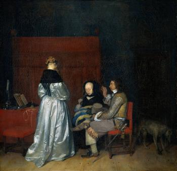 Gerard Ter Borch : Gallant Conversation known as The Paternal Admonition