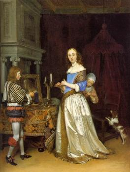 Gerard Ter Borch : Lady At Her Toilette II