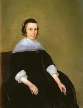 Gerard Ter Borch : Portrait Of A Lady