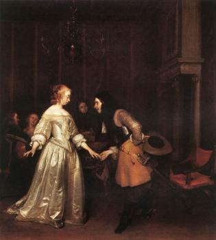 Gerard Ter Borch : The Dancing Couple