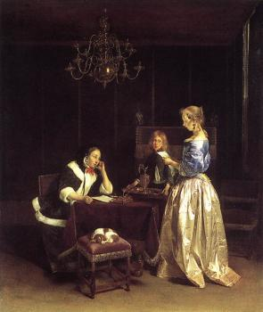 Gerard Ter Borch : Woman Reading A Letter