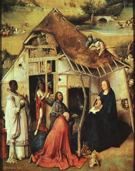 The Adoration of the Magi, central panel of the Epiphany triptych, detail