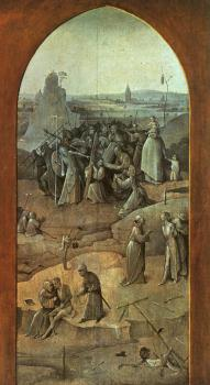 Christ Carrying the Cross, outer-right wing of the triptych The Temptation of St. Anthony