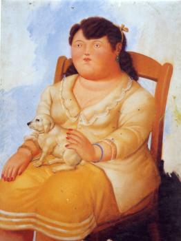 Fernando Botero : Woman With Dog