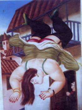 Woman Falling From A Balcony