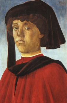 Sandro Botticelli : Portrait of a Young Man