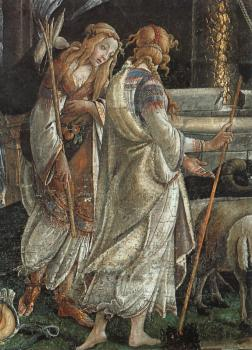 Scenes from the Life of Moses, detail of the Daughters of Jethro