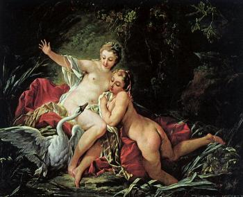 Francois Boucher : Leda and the Swan