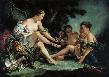 Francois Boucher : Diana's Return from the Hunt
