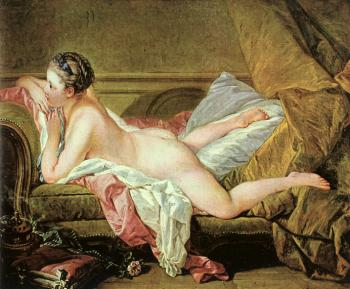 Francois Boucher : Nude on a Sofa (Reclining Girl)