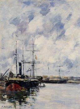 Eugene Boudin : A Corner of the Deauville Basin