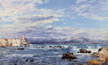 Eugene Boudin : A Gusty Northwest Wind at Antibes