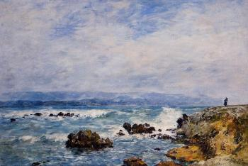 Eugene Boudin : Antibes, the Point of the Islet