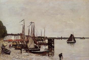 Eugene Boudin : Anvers, Fishing Boats