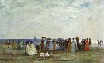 Eugene Boudin : Bathers on the Beach at Trouville