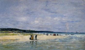 Eugene Boudin : Beach near Trouville