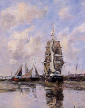 Eugene Boudin : Beached Boats