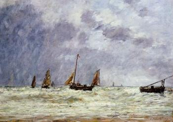 Berck, the Departure of the Boats