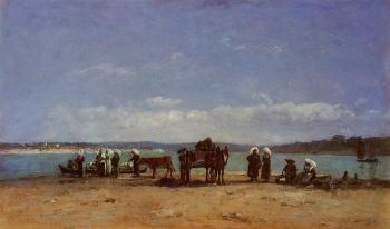 Brittany, Fishermen's Wives on the Shore