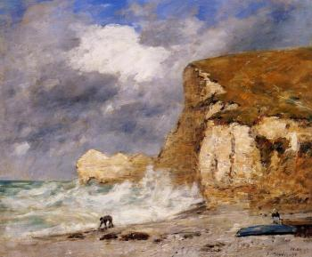 Etretat, The Amont Cliff in November