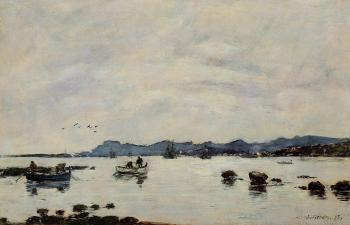 Golfe-Juan, the Bay and the Mountains of Esterel