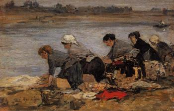 Laundresses on the Bankes of the Touques XII