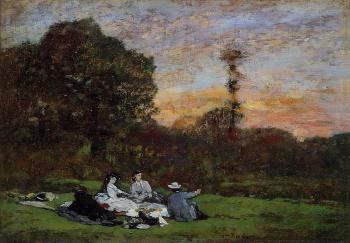 Eugene Boudin : Luncheon on the Grass, the Family of Eugene Manet