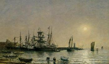 Portrieux, Boats at Anchor in Port