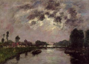 Eugene Boudin : Saint-Valery-sur-Somme, the Abbeville Canal II
