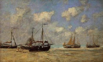 Scheveningen, Boats Aground on the Shore