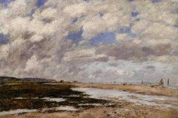 Eugene Boudin : The Beach, Deauville