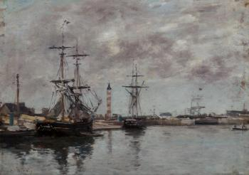 Eugene Boudin : The Port of Deauville III