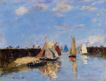 Eugene Boudin : The Port of Trouville III