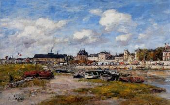Eugene Boudin : The Port of Trouville, Low Tide