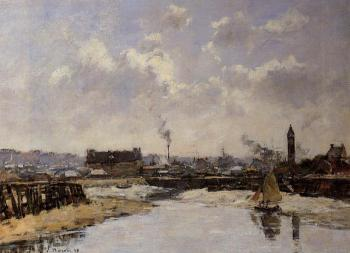 Trouville, the Port, Low Tide, Morning