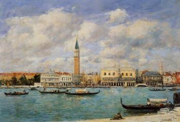 Venice, the Campanile, View of Canal San Marco from San Gior