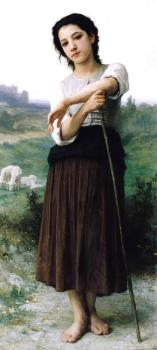 Bouguereau, William-Adolphe - Young Shepherdess Standing